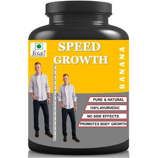 Hindustan Ayurveda Speed Growth Banana Flavor Height Increase Height Growth (100 gm Powder) Pack Of 1