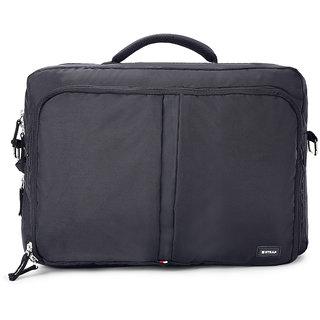 2STRAP Unisex Eclipse Black Laptop Messenger Office Bag