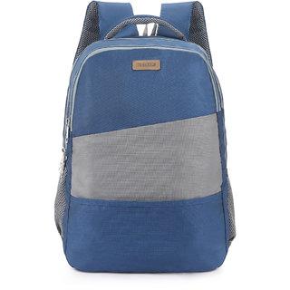 2STRAP Unisex Coral Navy Grey Laptop Backpack Bag