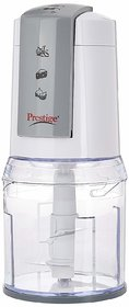 Prestige PEC 1.0 450-Watt Electric Chopper (White and Grey)