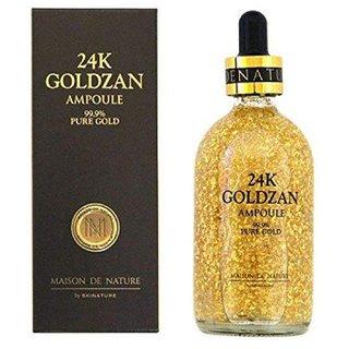 24k Goldzan Ampoule 99.99 Gold Face Serum Highlighter GOLDEN