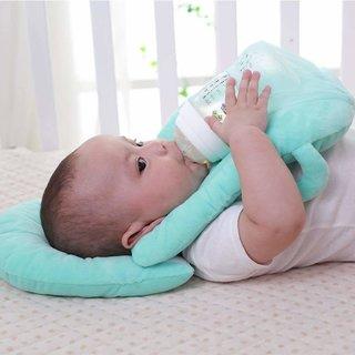 Ashni Babys Portable Self Feeding Support Pillow (Blue)