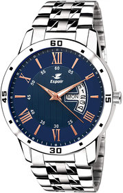 Espoir Analogue Stainless Steel Blue Dial Day and Date Boy's and Men's Watch - AL0507