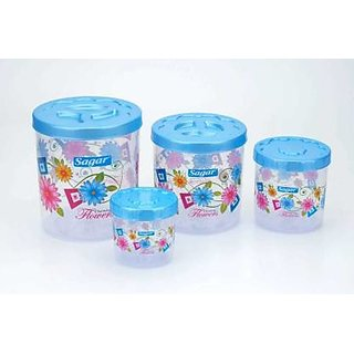 Rudra  Plastic Air Tight Container- 1600 ml Plastic Grocery Container