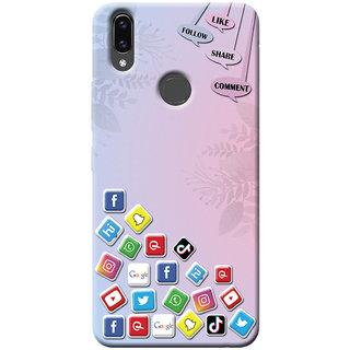 Cellmate Social Media Digital UV Printed Designer Soft Silicone Mobile Back Case Cover For Vivo Z1 Lite