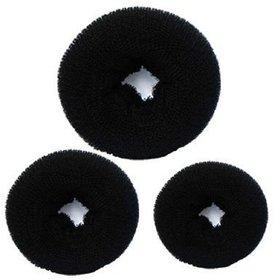 brahm  hair Donut for Bun Maker / Hair Accessories Bun (Black)