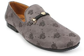 Stylish Loafers Pair of Shoes For Men, Grey