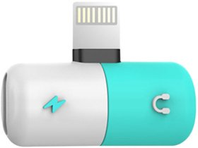 DIVERSE BIZ Capsule Pill Dual Lightning 8 Pin Splitter Adapter
