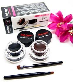 Music Flower Gel Eyeliner Black  Brown FOR Women
