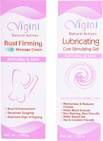 Vigini Lubricating Gel with Bre-a-st  Firm-ingSlimming and Tighte-ning , Anti Sagging Cream with Natural Actives, Hypoallergenic,Sulphate  Mineral oil free