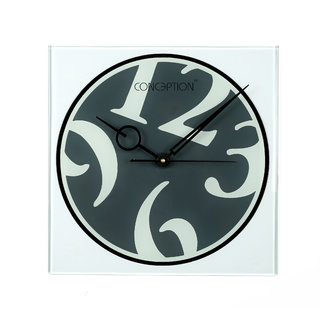 Buy Concept Glass Square Back Painted Wall Clock For Home Fancy Wall Clocks For Living Room Office Online 1599 From Shopclues
