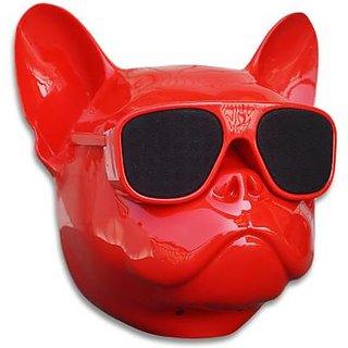 Snooky Bulldog Wireless Speaker Head Design 10 W Bluetooth Speaker  (Red  4.1 Channel)