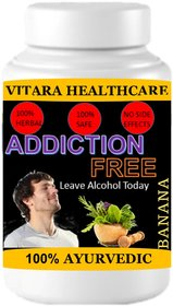 Vitara Healthcare Addiction Free Banana Flavor Free From Addiction 100 gm Powder (Pack Of 1)