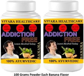 Vitara Healthcare Addiction Free Banana Flavor Free From Addiction 100 gm Powder (Pack Of 2)