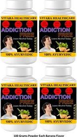 Vitara Healthcare Addiction Free Banana Flavor Free From Addiction 100 gm Powder (Pack Of 4)