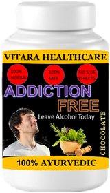 Vitara Healthcare Addiction Free Chocolate Flavor Free From Addiction 100 gm Powder (Pack Of 1)