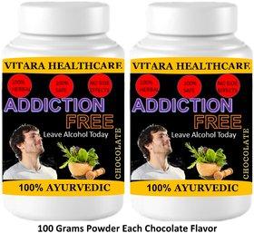 Vitara Healthcare Addiction Free Chocolate Flavor Free From Addiction 100 gm Powder (Pack Of 2)