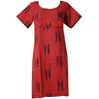 K T COLLECTION COTTON MATERNITY FEEDING KURTI WITH HORIZONTAL ZIPPERS KTMTRN84