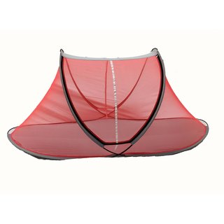 Aim Emporium Polyester Adults Single Bed Foldable Mosquito Net (Orange Color )