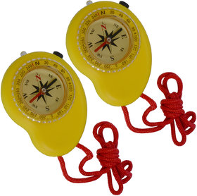 2 Piece Military Hiking Camping Lens Magnetic Compass - PS32B