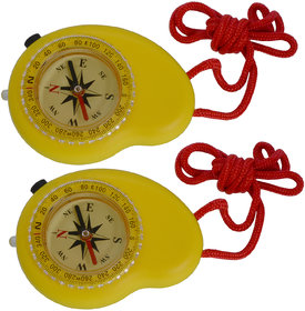 2 Piece Military Hiking Camping Lens Magnetic Compass - PS32A