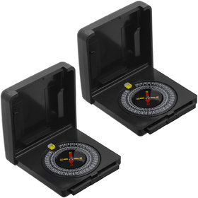 2 Piece Military Hiking Camping Lens Magnetic Compass - PS35A