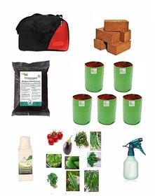 Organic Terrace Garden Kit in a Travel Bag