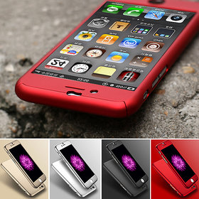 Ipaky iPhone 6 6s 360 Degree Full Protection Case with Tempered Glass