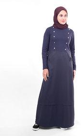 Silk Route London Navy Smart Sister Jilbab For Women Height of 5