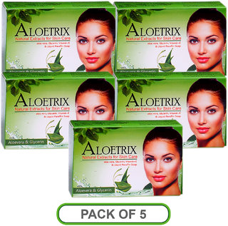 Ethix Aloetrix Soap 75gm(Pack of 5)