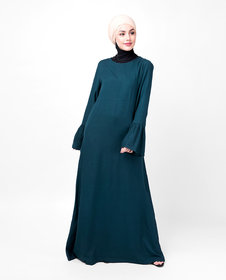 Silk Route London Teal Bell Sleeve Abaya For Women Height of 5