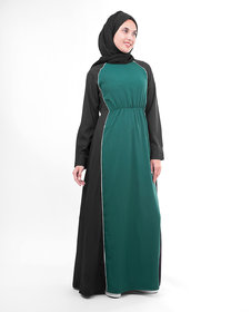 Silk Route London Green And Black Crepe Sister Jilbab For Women Height of 5