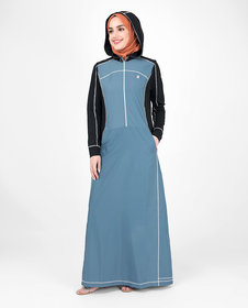 Silk Route London Top-Stitch Detachable Hooded Jilbab For Women Height of 5