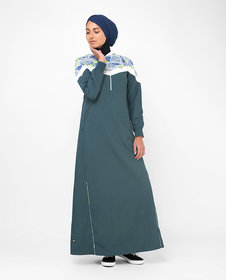 Silk Route London Geo Print Casual Sporty Jilbab For Women Height of 5
