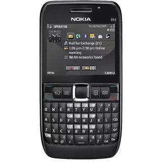 Refurbished Nokia E63 Black Single SIM ARM 11 369 MHz Processor (1 Year Warranty By Warranty Plaza )