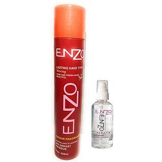 Enzo Hold Hair Serum+ Hair Sprays 420 mL