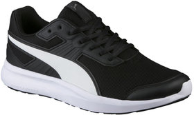 Puma Unisexs Escaper Mesh Black White Running Shoes