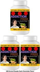 Vitara Healthcare Addiction Free Chocolate Flavor Free From Addiction 100 gm Powder (Pack Of 3)