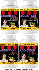Vitara Healthcare Addiction Free Chocolate Flavor Free From Addiction 100 gm Powder (Pack Of 4)