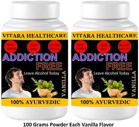 Vitara Healthcare Addiction Free Vanilla Flavor Free From Addiction 100 gm Powder (Pack Of 2)
