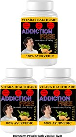 Vitara Healthcare Addiction Free Vanilla Flavor Free From Addiction 100 gm Powder (Pack Of 3)