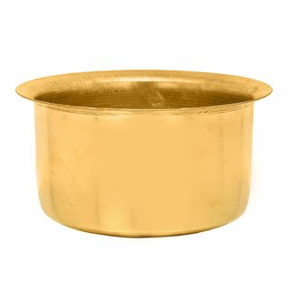 Rolimoli Brass Round pure patila pure (8 cm Height)