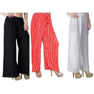Combo pack of 3 palazzo pant free size only on 399