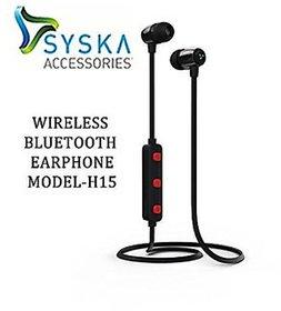 Syska H-15 Wireless Earphone black
