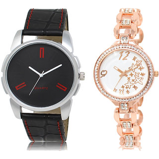 ADK AD-03-LK-210 Black & White Dial Best Watches for  Couple