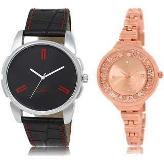 ADK AD-03-LK-225 Black & Rose Gold Dial Designer Watches for  Couple