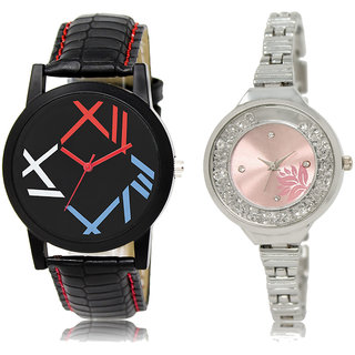 ADK LK-12-226 Multicolor & Pink Dial Special Watches for  Couple