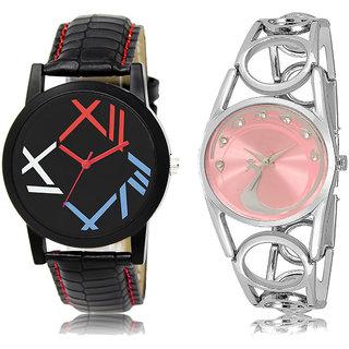 ADK LK-12-233 Multicolor & Pink Dial New  Watches for  Couple