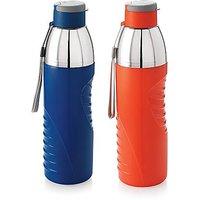 Cello Puro Gliss 600 Water bottle 600ml Pack of 2 multicolour