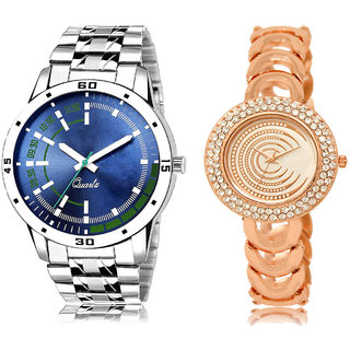 ADK AD-05-LK-202 Blue & Rose Gold Dial Best Watches for  Couple